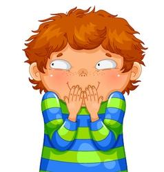 giggling boy vector image