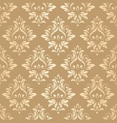 Luxury golden damask wallpaper vector