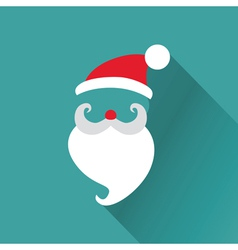Christmas retro santa card vector