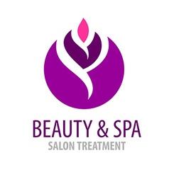 Spa treatment salon logo template vector image