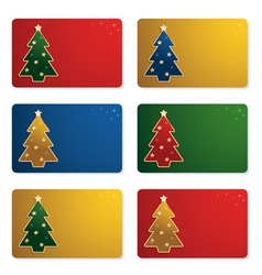 Christmas gift cards vector