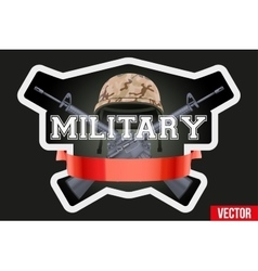 Military club or company badges and labels logo vector