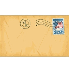 Envelope with stamp vector