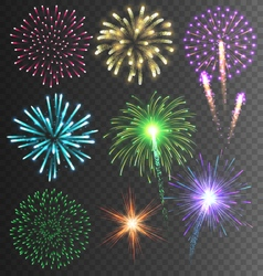 Festive colorful firework salute burst on vector