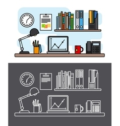 Workspace and office concept vector