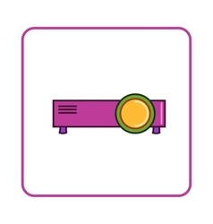 Projector icon simple style vector