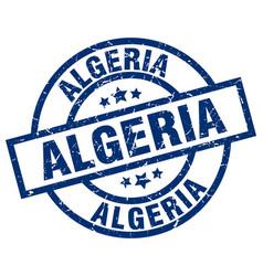 Algeria blue round grunge stamp vector
