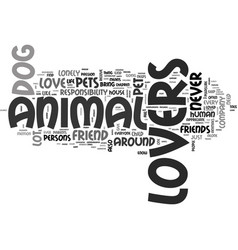animal languages text word cloud concept vector image vector image