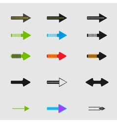 Arrow sign icon set design eps10 vector image