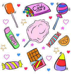 Art candy various doodle style vector