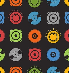 Audio equipment seamless background vector image vector image