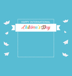 Background banner for childrens day vector