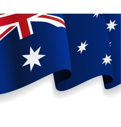 Background with waving australian flag vector
