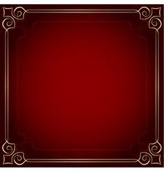 Beautiful frame on a red background vector image