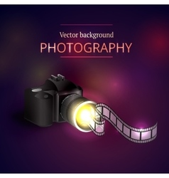 camera shooting photo and video vector image vector image