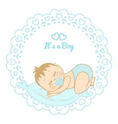 card with birthday boy vector image