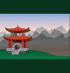 chinese pagoda background vector image