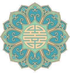 Chinese rosette vector