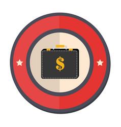 Circular border portfolio with dollar symbol vector