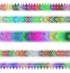 Color fractal page text divider line set vector