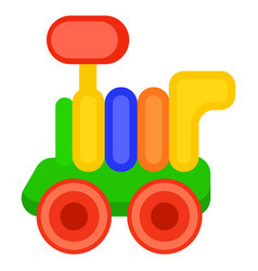 colorful toy train wagon isolated vector image vector image