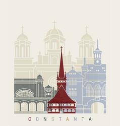 Constanta skyline poster vector