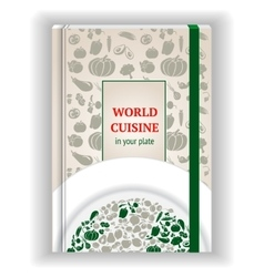 Cover template cookbook vector
