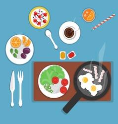 flat breakfast vector image