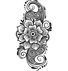 Floristic line art vector