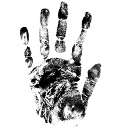 hands print vector image