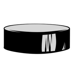 hockey puck icon cartoon vector image vector image