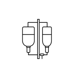 Intravenous infusion icon outline style vector image vector image