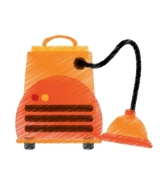 Isolated vacuum cleaner machine design vector