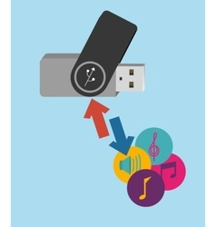 pen drive design vector image