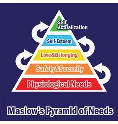 Pyramid of needs vector