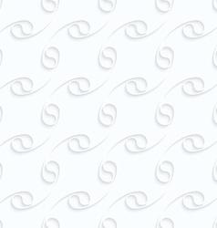 Quilling paper diagonal arcs fastened vector image