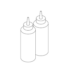 Sauce bottles icon isometric 3d style vector image