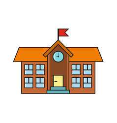 school building isolated on a white background vector image vector image
