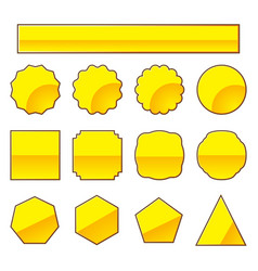 Set of gold stamp vector