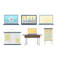 Set of tools for seminar and lecture vector