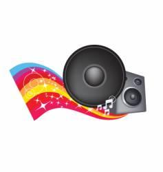 speaker rainbow vector image