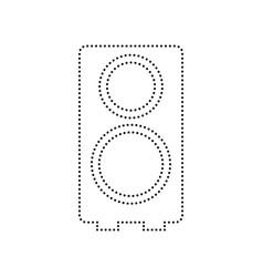 speaker sign black dotted vector image