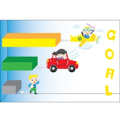 Speed to goal vector