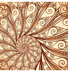 Spiral background in henna tattoo style vector