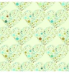 Splatter hearts seamless surface pattern vector image vector image