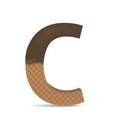 Wafer C letter vector image