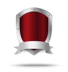 Metal shield protection or victors symbol vector
