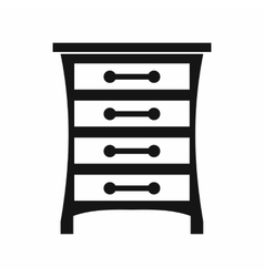 Chest of drawers icon simple style vector