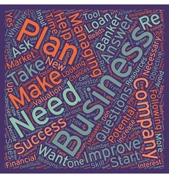 Reasons why you need a business plan text vector