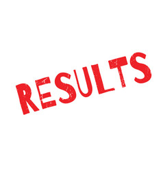 results rubber stamp vector image